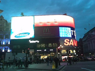 Piccadilly Circus, in London's West End Theatre District