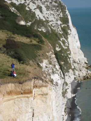 People on Cliff Edge
