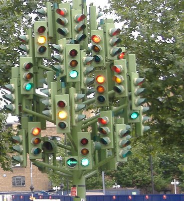 Pierre Vivants Traffic Light Tree Close Up