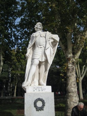 Ramiro the first statue in Plaza de Oriente