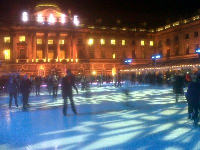 Rink at Skate, skating at Somerset House