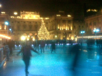 Rink and Tree, skating at Somerset House