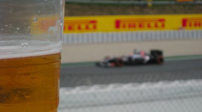 Beer and Car at the Spanish Grand Prix 2014, Circuit de Barcelona-Catalunya, Spain