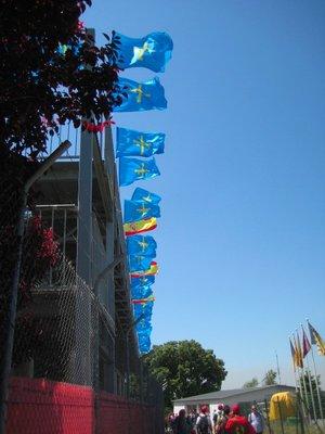 Flags awavin' at the Spanish Grand Prix 2014, Circuit de Barcelona-Catalunya, Spain