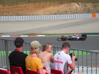 Taking photos of the cars at the Spanish Grand Prix 2014, Circuit de Barcelona-Catalunya, Spain