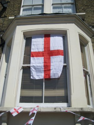 The flag of England, the St. George banner