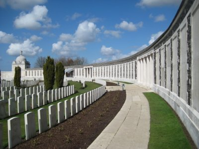 Tyne Cot Cemetery, Memorial Wall with Names