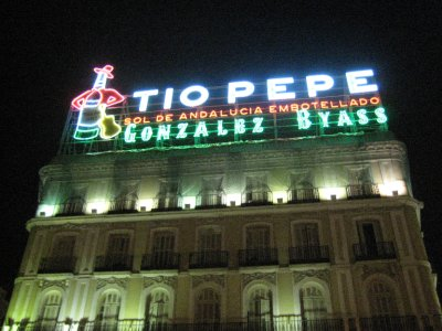 Tio Pepe Sign in Puerta del Sol