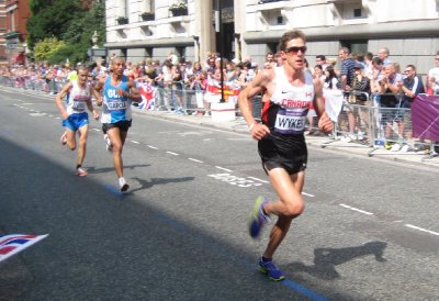 Wykes from Canada in the Marathon