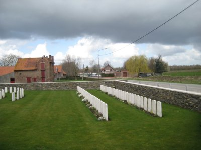 Farm Houses and Small WWI Gravesite just outside Ypres