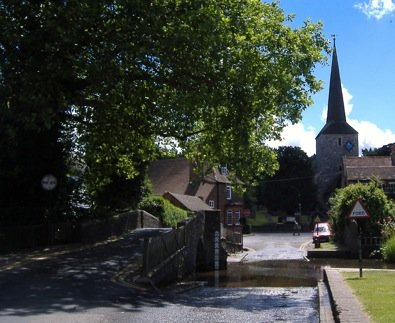 Ford through the river Darent in Eynsford