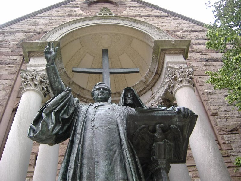 Trinity Church Statue, Boston, USA