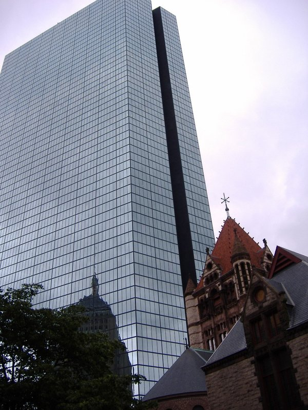 Hancock Building and Trinity Church, Boston, USA