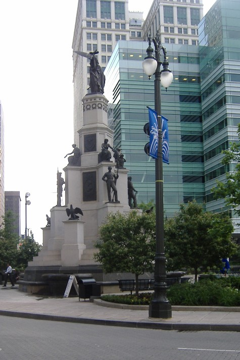 Statues in Cadillac Square, Detroit, USA
