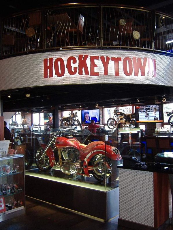 Hockeytown!  Detroit is home of NHL's Red Wings
