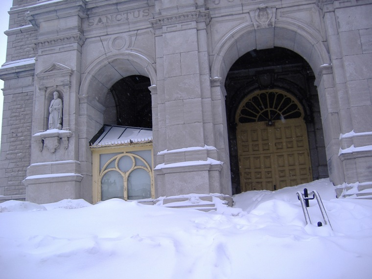 Snow at Church, Quebec City