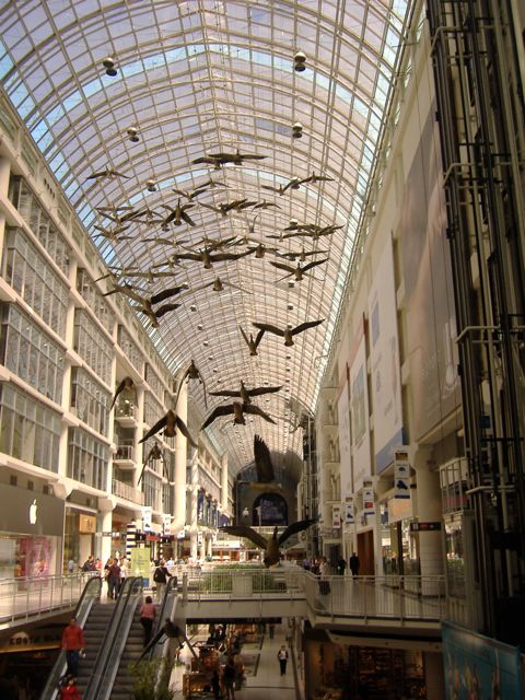 Canada Geese, by Michael Snow, Toronto Eaton Centre