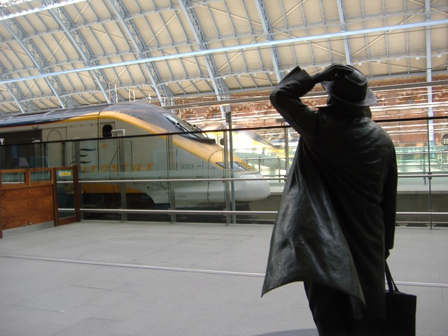 St Pancras Man and Train