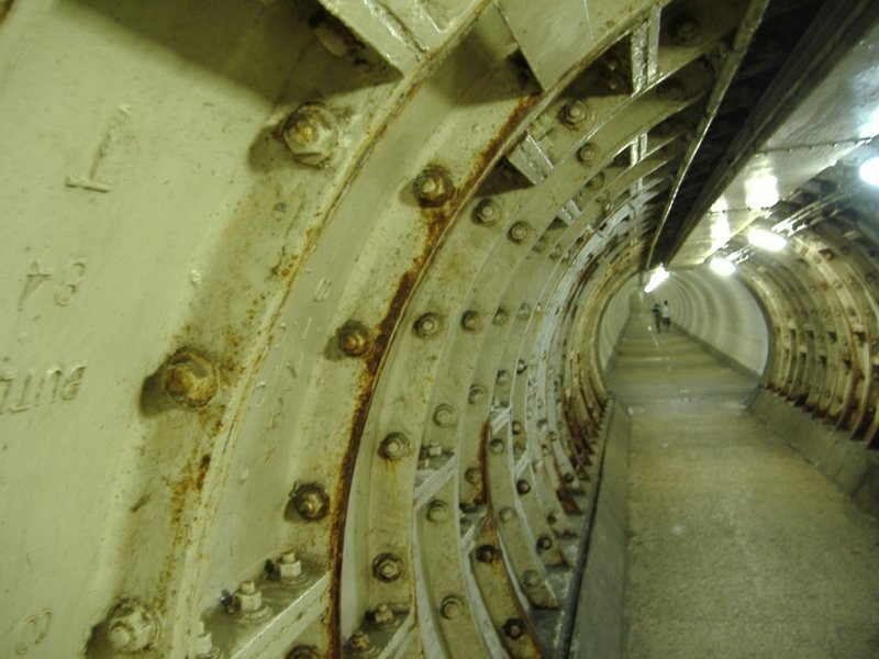 Riveting view of the Greenwich Foot Tunnel