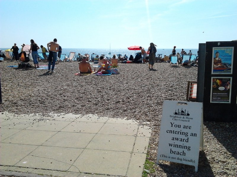 Award winning beach, Brighton