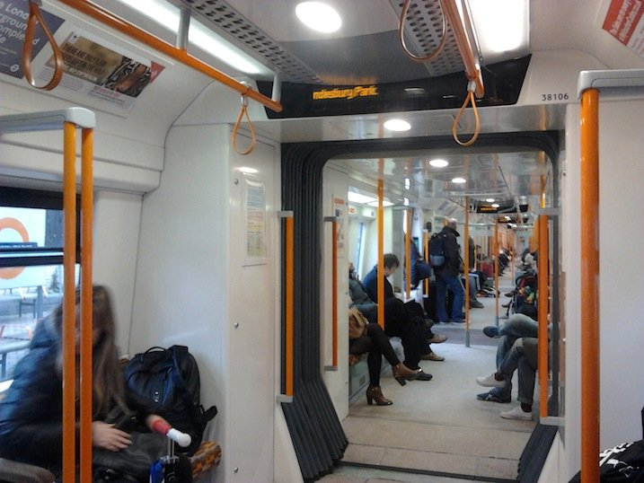 Overground train interior