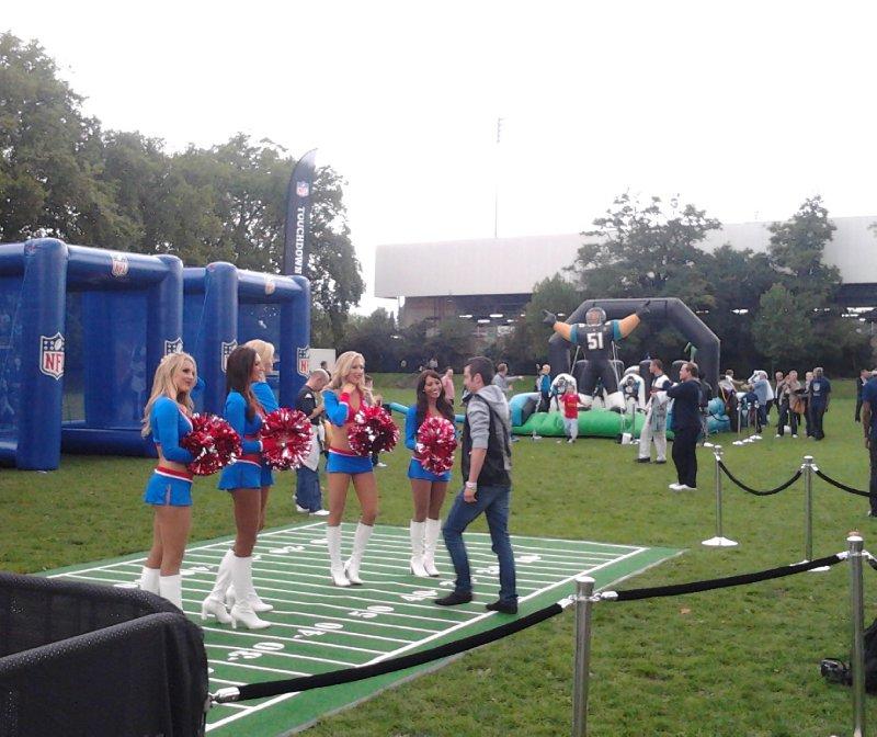 NFL Cheerleaders pre-game - Fulham FC vs Stoke City