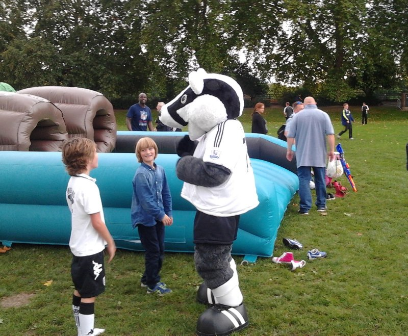 Billy the Badger, mascot of Fulham FC - Fulham FC vs Stoke City