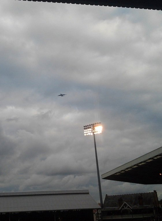 A plane over Craven Cottage - Fulham FC vs Stoke City