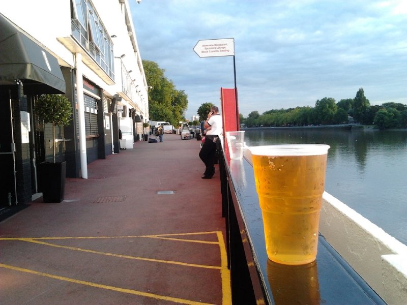 Beer, sunny day, a river view and some football - Fulham FC vs Stoke City
