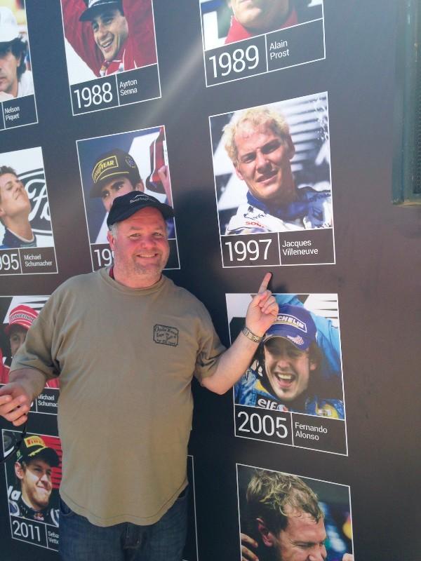 It's me and JV at the Spanish Grand Prix 2014, Circuit de Barcelona-Catalunya, Spain