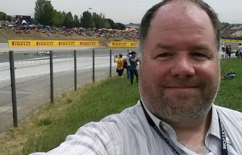 Race track selfie at the Spanish Grand Prix 2014, Circuit de Barcelona-Catalunya, Spain