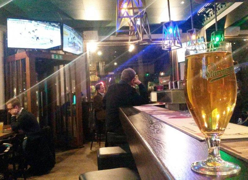 Flying Dog pub beer and hockey