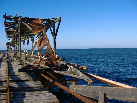 The dock in La Ceiba