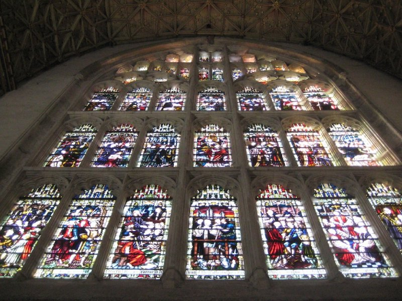 Stained glass in the Chapter House, Canterbury Cathedral