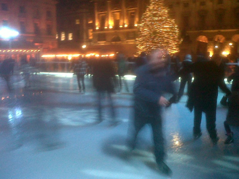 Action shot, me skating away, skating at Somerset House