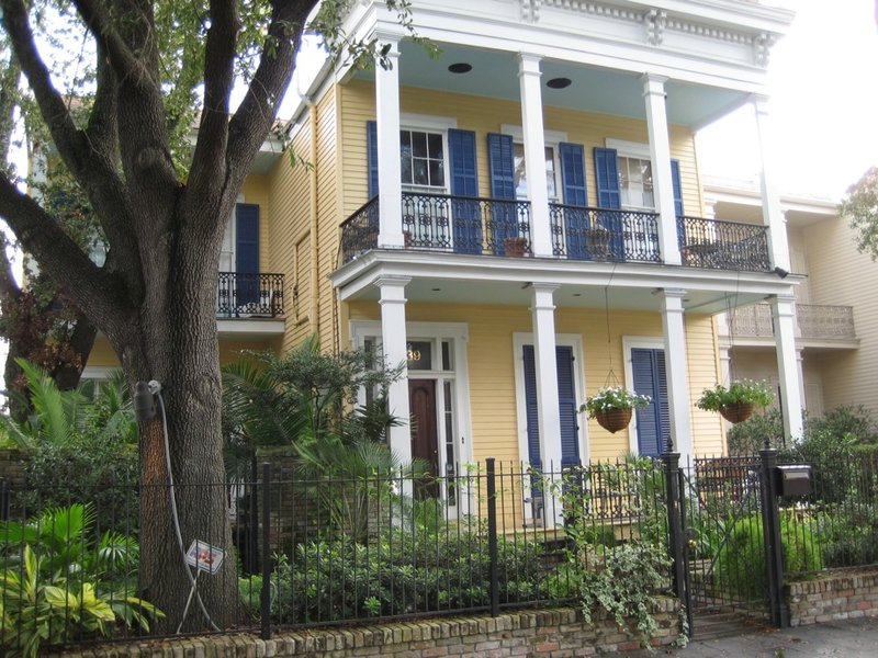 Garden District Yellow House
