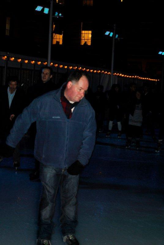 Greg Gliding, skating at Somerset House
