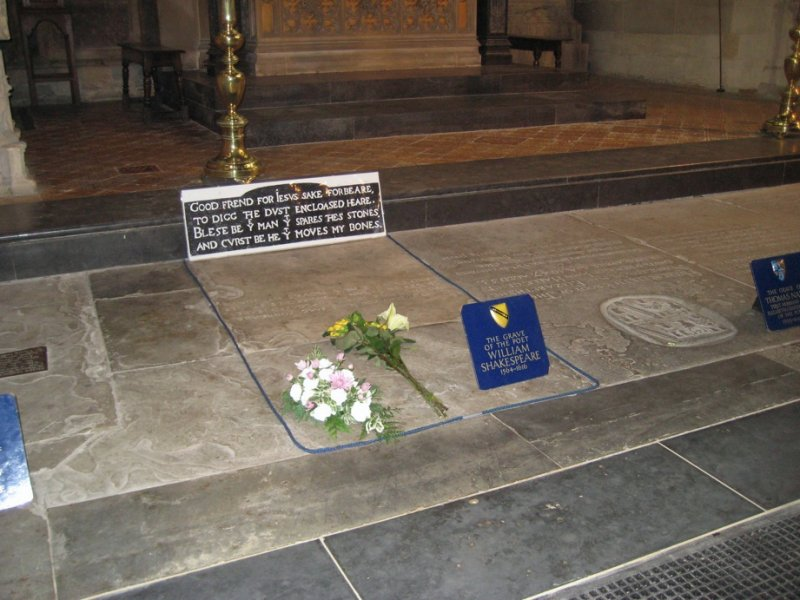 William Shakespeares Grave in Holy Trinity Church