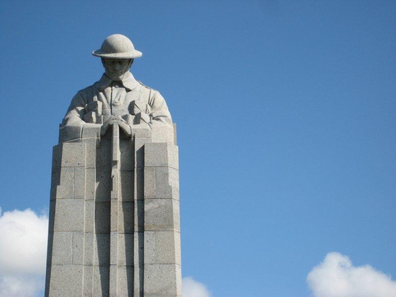 Blue Skies and St. Julien Canadian Memorial