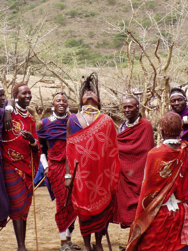 Maasai Warrior Dancing the Adumu