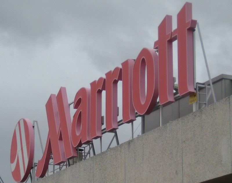 Marriott Hotel Sign, Lisbon, Portugal
