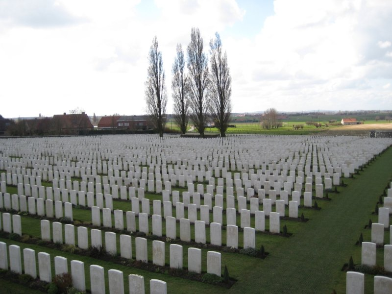 Rows of Graves, Tyne Cot Cemetery