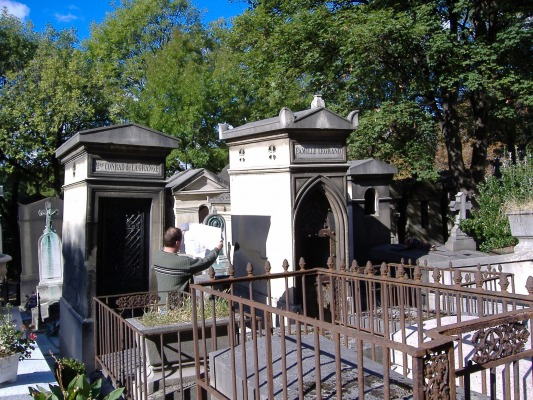 Lost in Pere LaChaise Cemetary, Paris, France