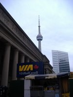 Toronto Union Station and CN Tower