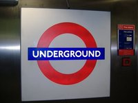 Underground sign, London, UK