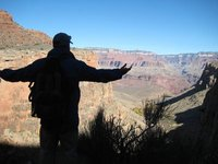 Me in Shadow with Arms Outstretched at Grand Canyon