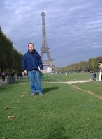 Standing by the Tour Eiffel