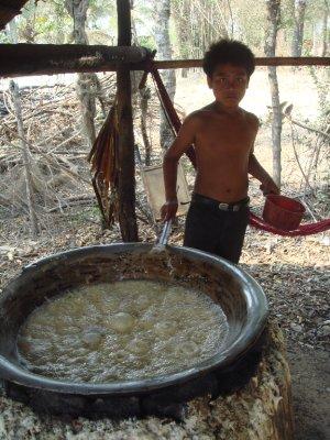 palm sugar boil