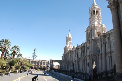 The main plaza of Arequipa