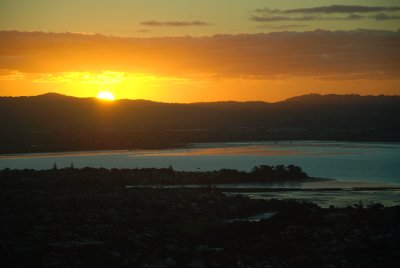 sunset auckaldn